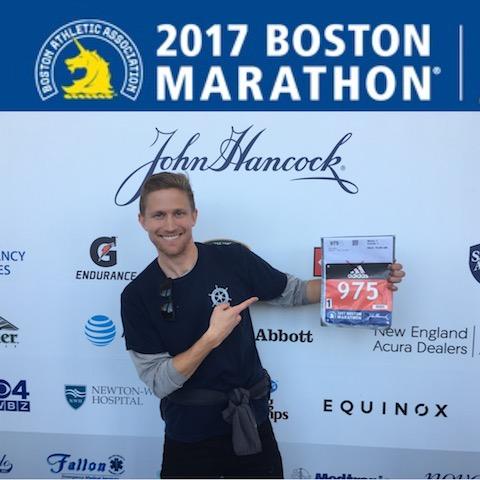 Collin Jarvis Boston Marathon Stealth Belt Start Line