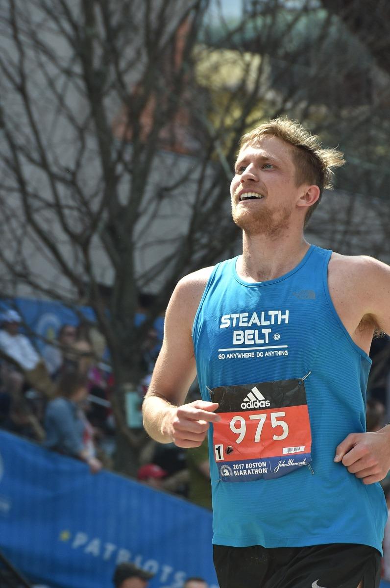 Collin Running the Boston Marathon